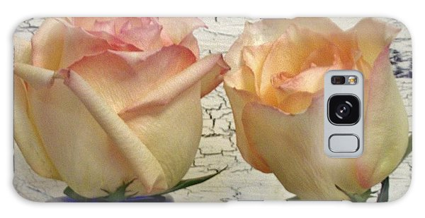 Vase Of Flowers Galaxy Case - Two Fluffy Roses by Marsha Heiken