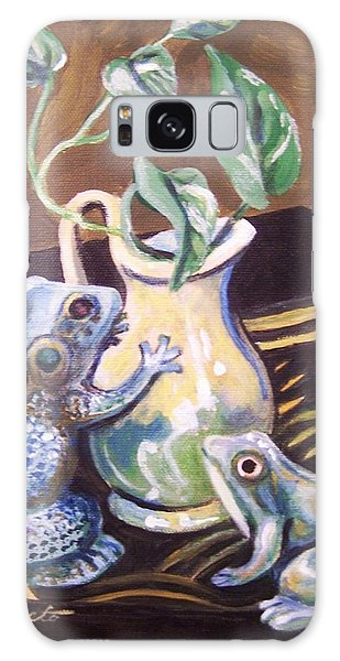 Two Frogs Galaxy Case by Laura Aceto