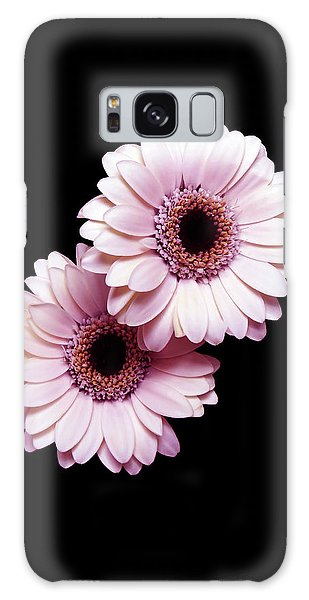 Two Gerberas On Black Galaxy Case