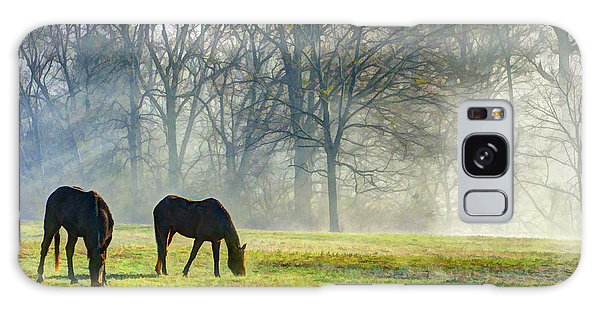 Two Horse Morning Galaxy Case