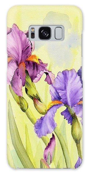 Two Irises  Galaxy Case