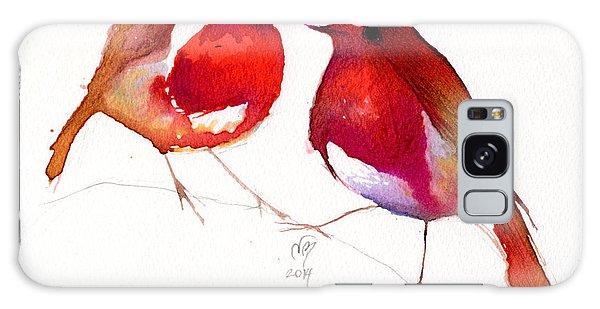 Lovebird Galaxy S8 Case - Two Little Birds by Nancy Moniz