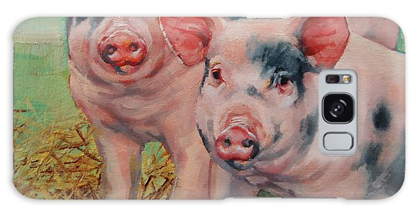 Two Little Pigs  Galaxy Case