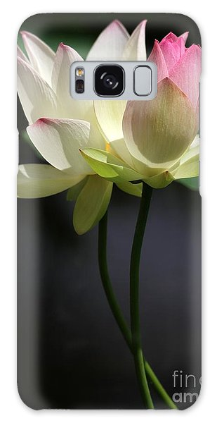 Two Lotus Flowers Galaxy Case