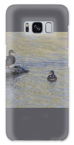 Two Mallard Ducks Galaxy Case