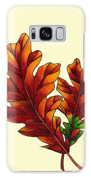 Two Oak Leaves Galaxy Case by Dawnstarstudios