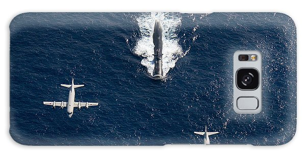 Galaxy Case featuring the photograph Two P-3 Orion Maritime Surveillance by Stocktrek Images
