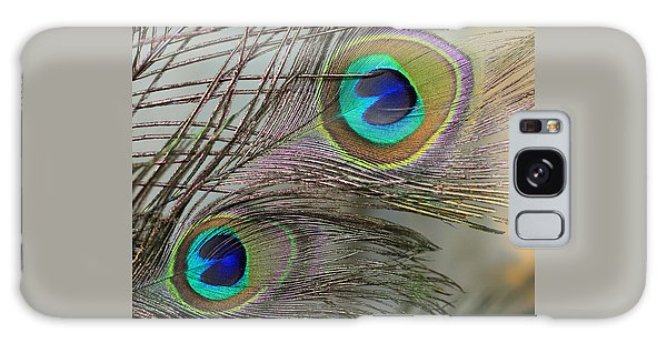 Two Peacock Feathers Galaxy Case