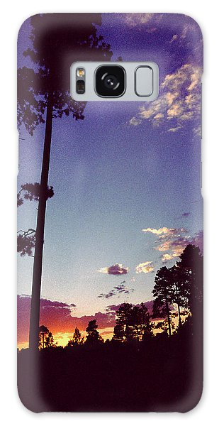 Two Pines Sunset Galaxy Case