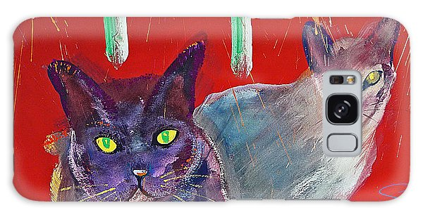 Two Posh Cats Galaxy Case