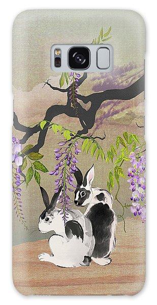 Two Rabbits Under Wisteria Tree Galaxy Case