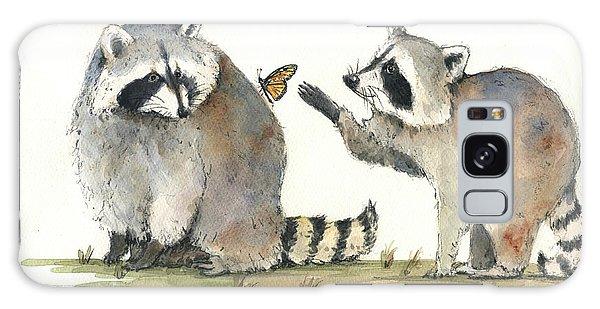 Raccoon Galaxy Case - Two Raccoons by Juan Bosco