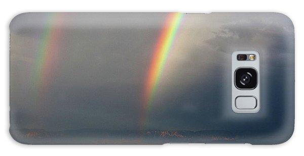 Two Rainbows Galaxy Case