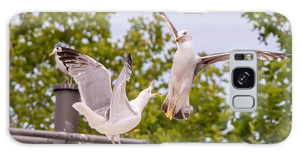 Two Seabird Fighting Galaxy Case
