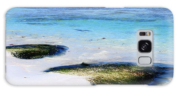 Two Seaweed Mounds On Punta Cana Resort Beach Galaxy Case