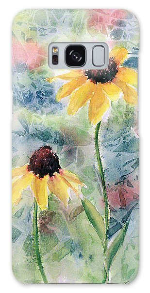 Two Sunflowers Galaxy Case
