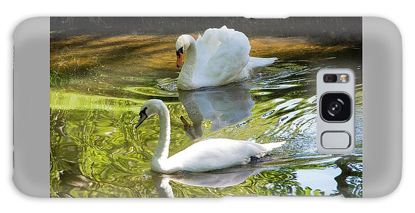 Two Swans On A Lake Galaxy Case