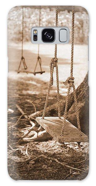 Two Swings - Sepia Galaxy Case