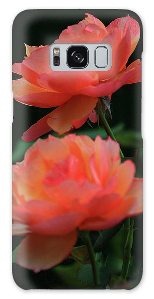 Two Tangerine Roses Galaxy Case