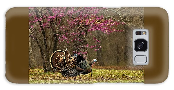 Two Tom Turkey And Redbud Tree Galaxy Case