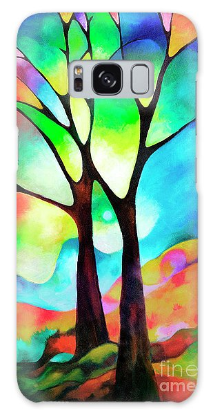 Two Trees Galaxy Case by Sally Trace