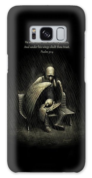 Two Wings And A Prayer - With Psalm 91 Galaxy Case