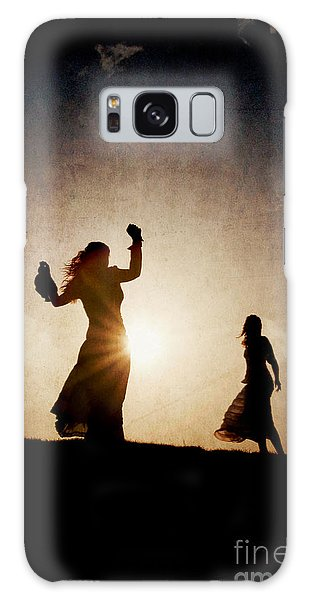 Two Women Dancing At Sunset Galaxy Case