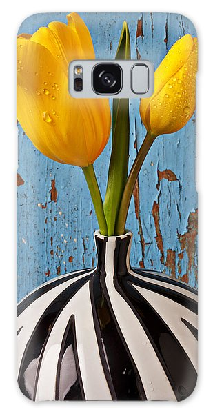 Two Yellow Tulips Galaxy Case