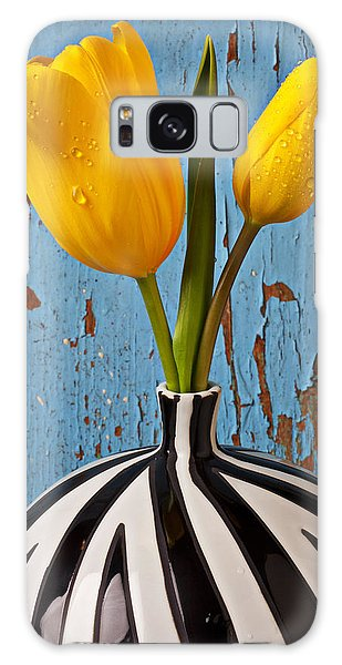 Tulip Galaxy S8 Case - Two Yellow Tulips by Garry Gay