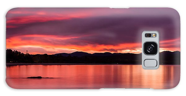 Twofold Bay Sunset Galaxy Case by Racheal  Christian