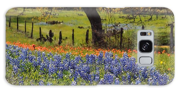 Tx Tradition, Bluebonnets Galaxy Case by Lisa Spencer