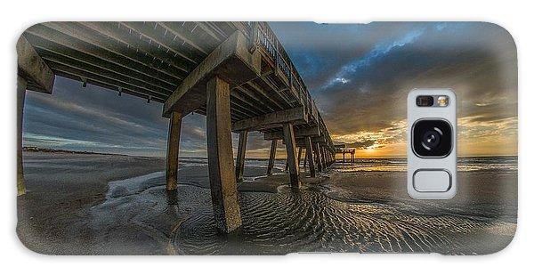Tybee Island Beach Pier  Galaxy Case