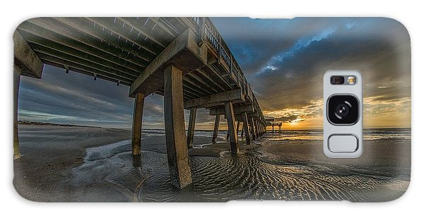 Tybee Island Beach Pier  Galaxy Case