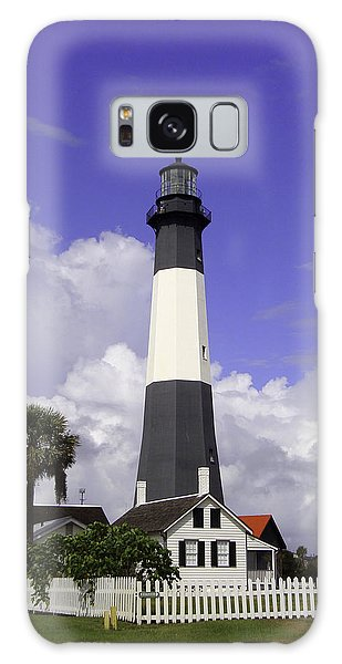 Tybee Island Lighthouse Galaxy Case by Elizabeth Eldridge