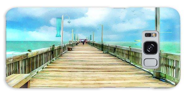 Tybee Island Pier In Watercolor Galaxy Case