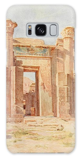 Pylon Galaxy Case - Tyndale, Walter 1855-1943 - Below The Cataracts 1907, The Ptolemaic Pylon, Medinet Habu by Walter Tyndale