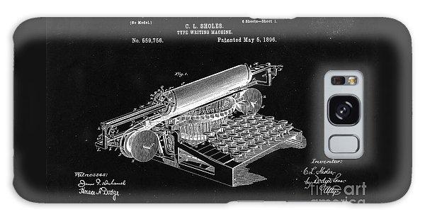 Type Writing Machine Patent From 1896  - Black Galaxy Case