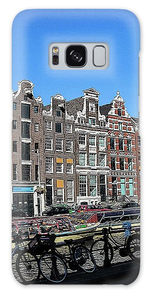 Typical Houses In Amsterdam Galaxy Case
