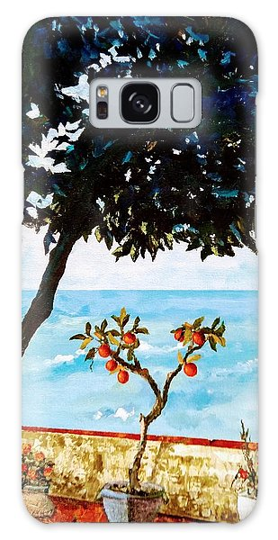 Galaxy Case featuring the painting Typical Mediterranean by Ray Khalife