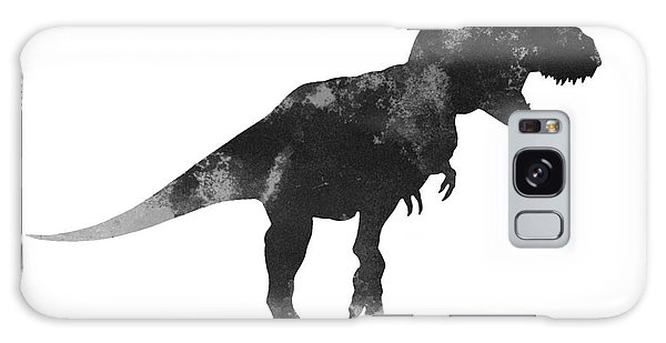Tyrannosaurus Figurine Watercolor Painting Galaxy Case