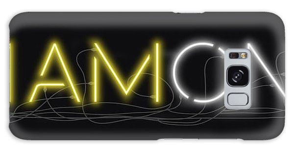 U Are Diamond - Neon Sign 2 Galaxy Case
