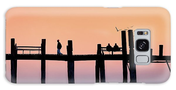 U-bein Bridge At Dawn Galaxy Case