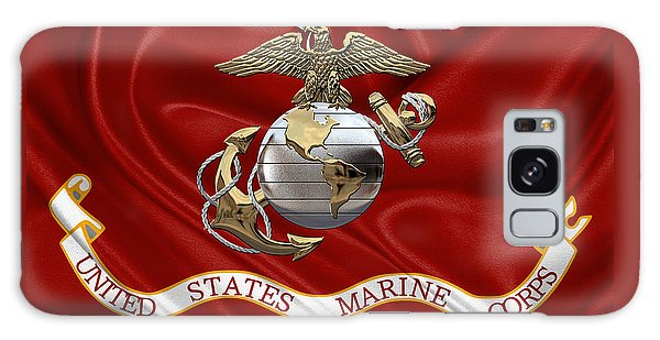 U. S.  Marine Corps - U S M C Eagle Globe And Anchor Over Corps Flag Galaxy Case