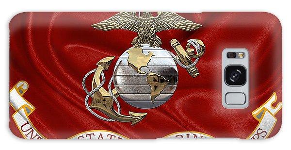 U. S.  Marine Corps - U S M C Eagle Globe And Anchor Over Corps Flag Galaxy Case