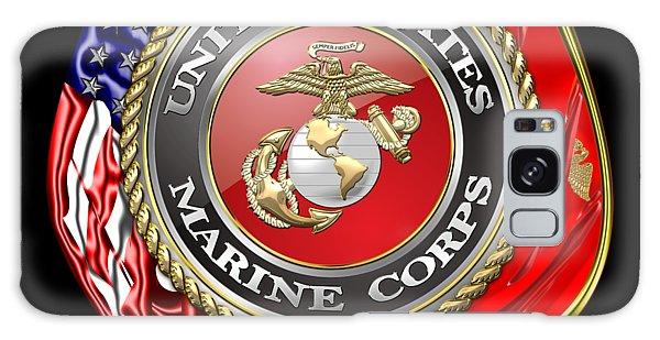 U. S. Marine Corps U S M C Emblem On Black Galaxy Case
