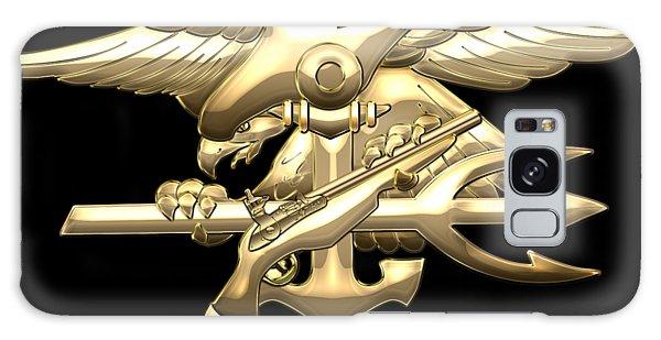 U. S. Navy S E A Ls Emblem On Black Velvet Galaxy Case