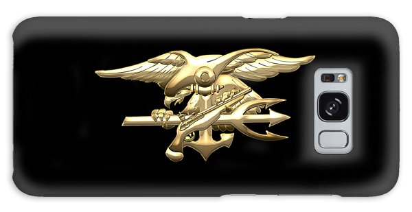 U. S. Navy S E A Ls Emblem On Black Velvet Galaxy Case