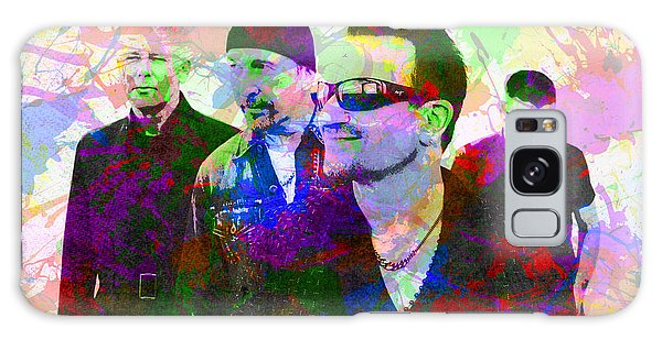 U2 Galaxy Case - U2 Band Portrait Paint Splatters Pop Art by Design Turnpike