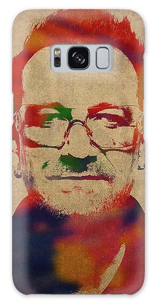 U2 Bono Watercolor Portrait Galaxy Case