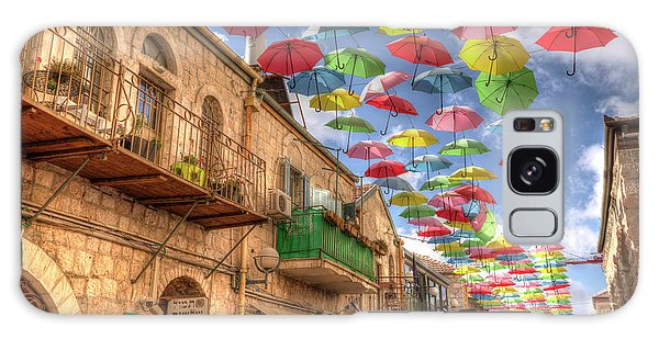 Umbrellas Over Jerusalem Galaxy Case